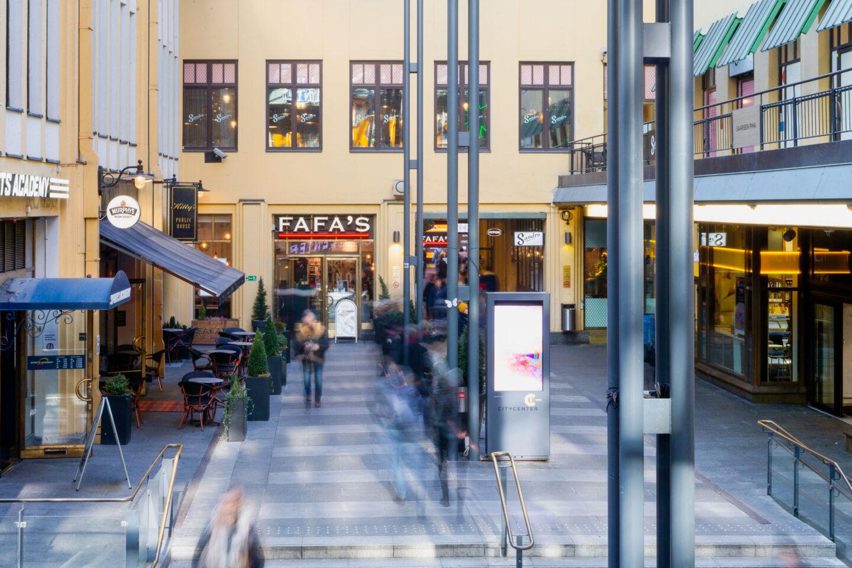 Fafa's Citycenter ravintolan julkisivu.